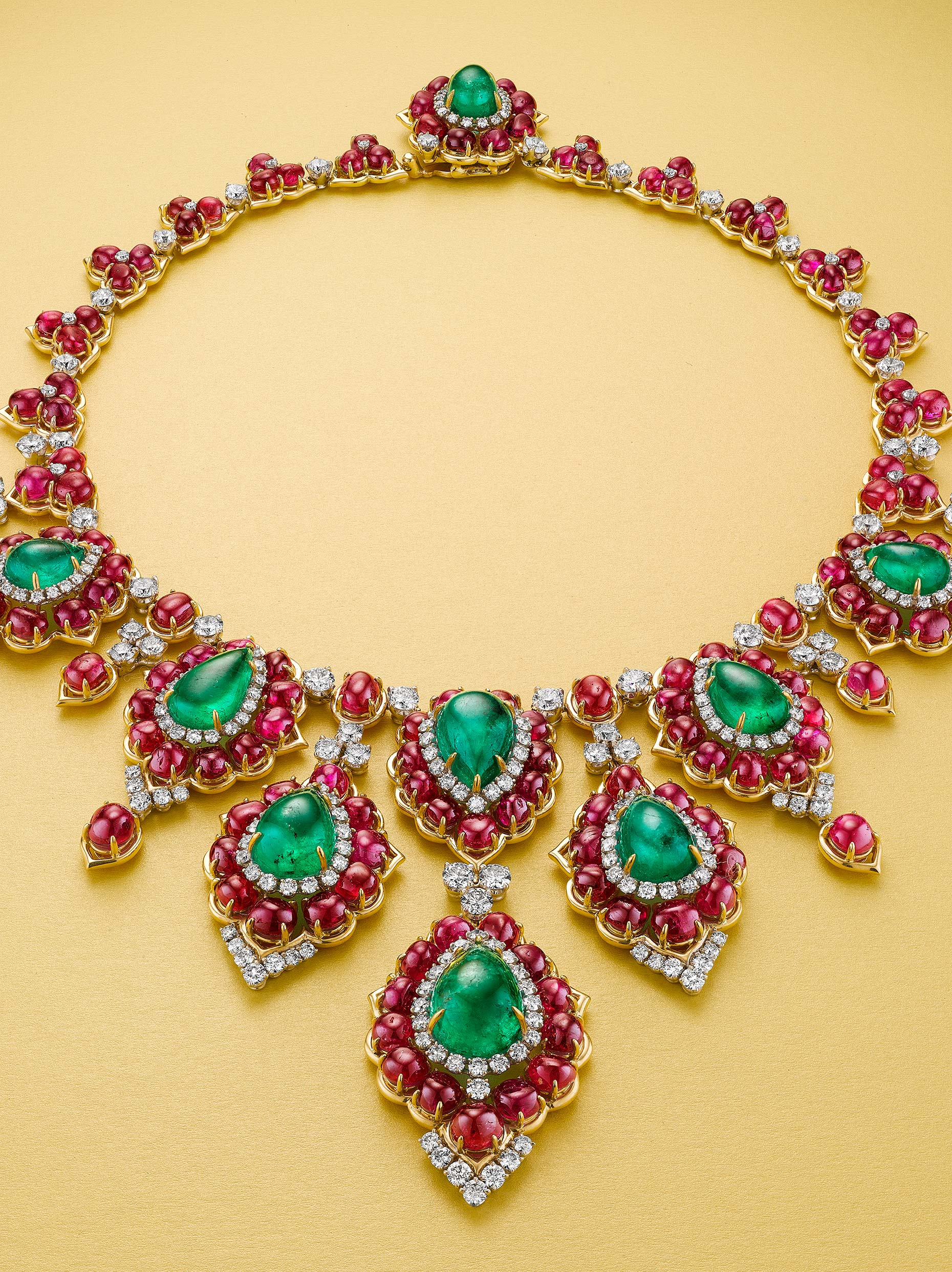 Bulguri Ruby Emerald Necklace