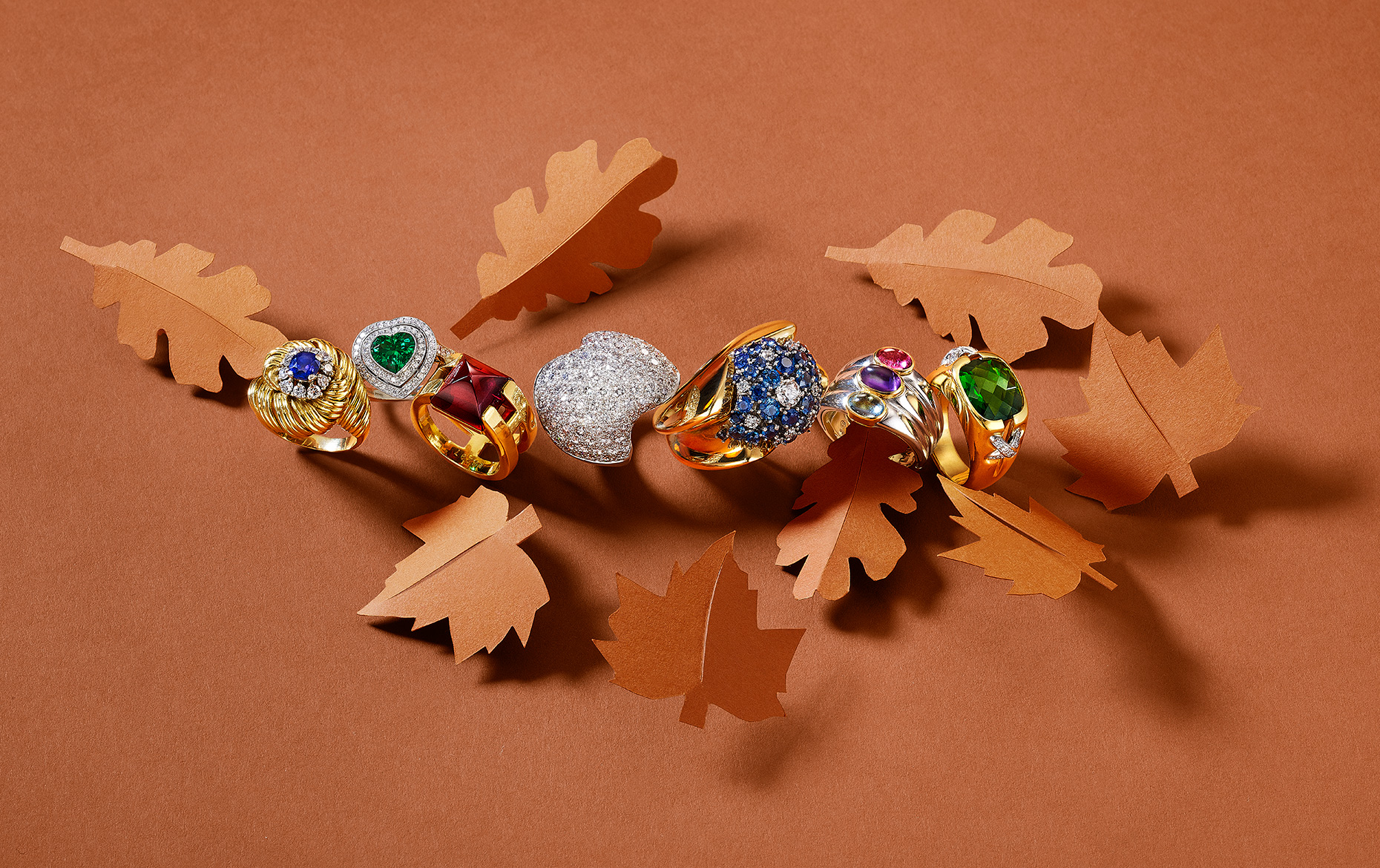 Fall Cocktail Rings