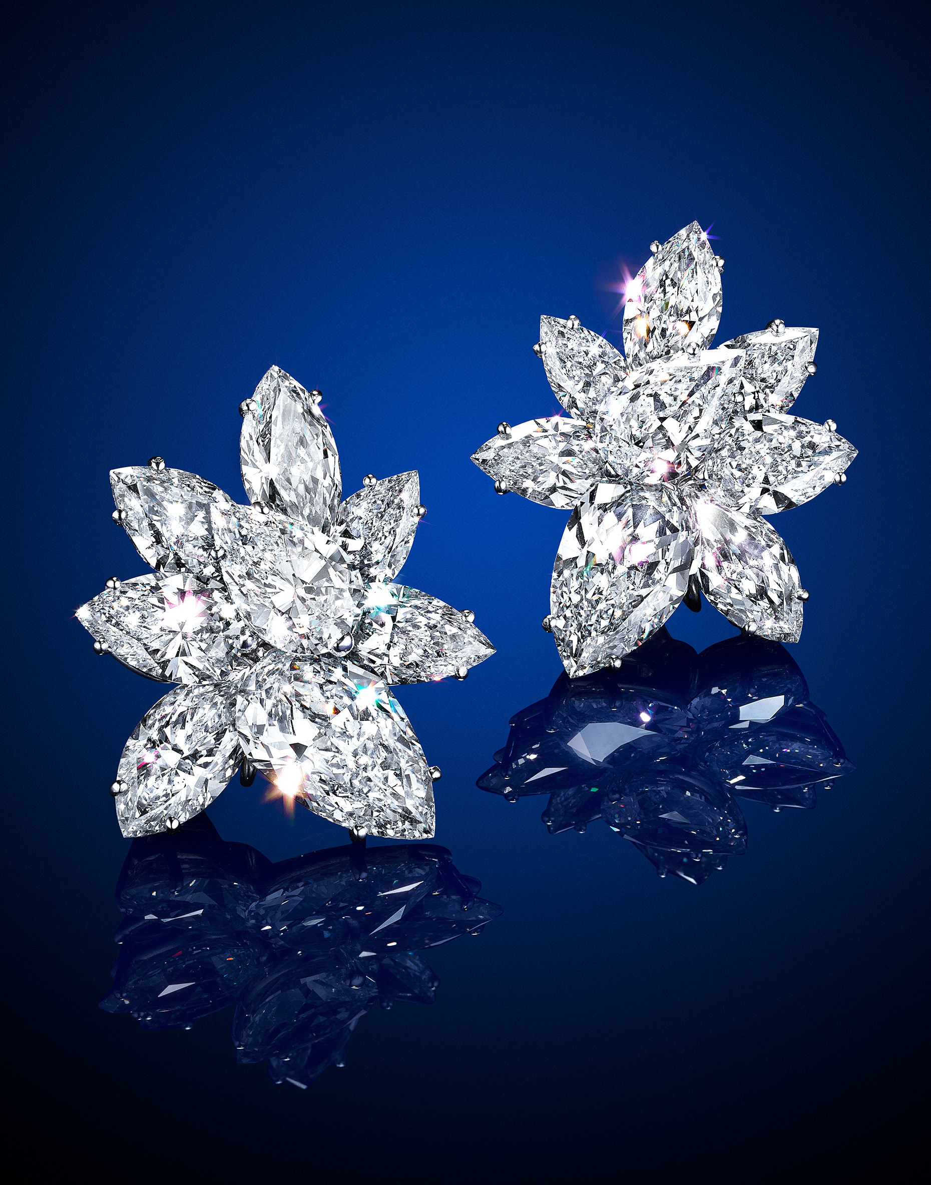 Christies Pear Cluster Earrings