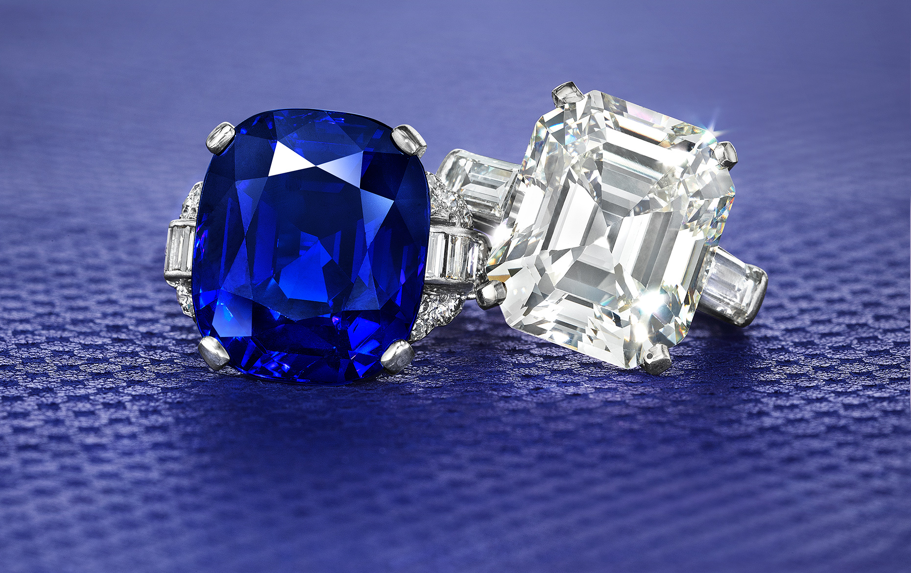 Magnificent Sapphire Diamond Rings